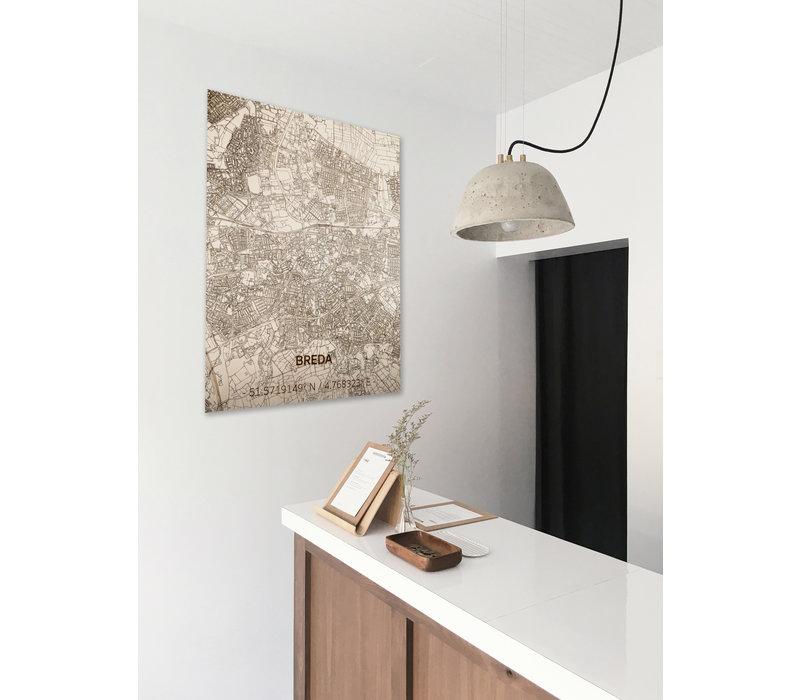 Citymap Breda | houten wanddecoratie