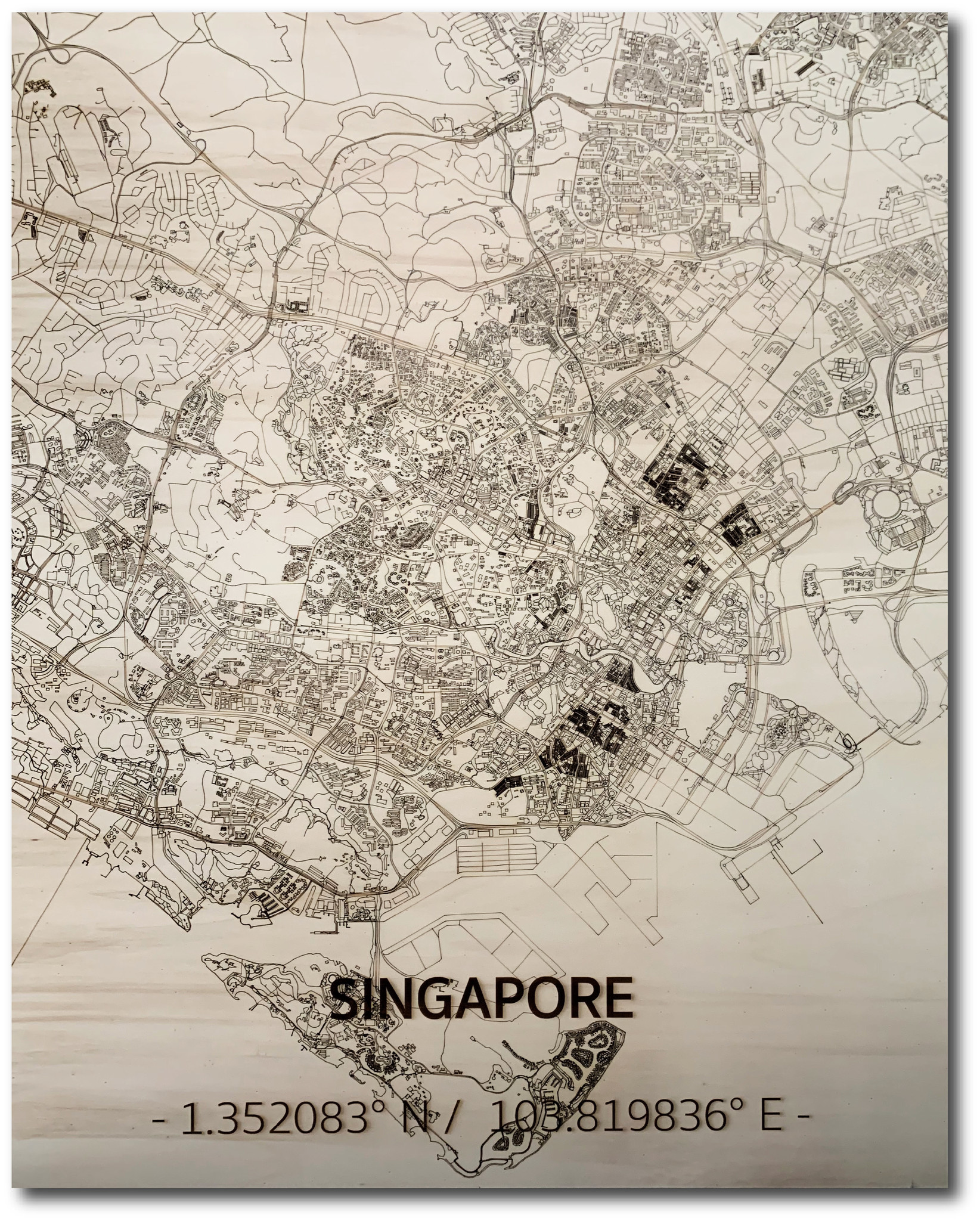 WOODEN WALL DECORATION SINGAPORE CITYMAP-1