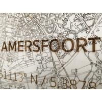 WOODEN WALL DECORATION Amersfoort CITYMAP