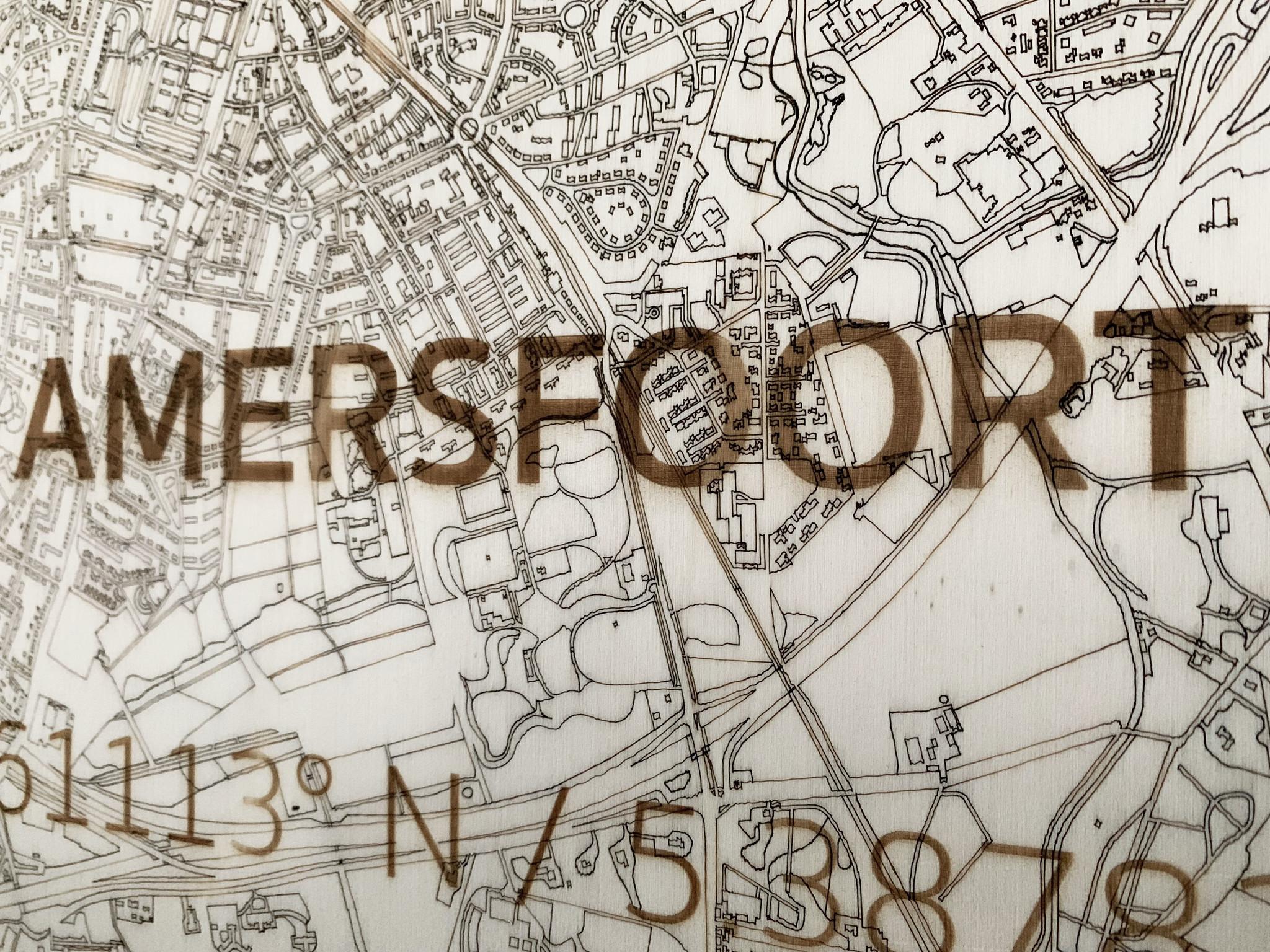 Citymap Amersfoort | houten wanddecoratie-4