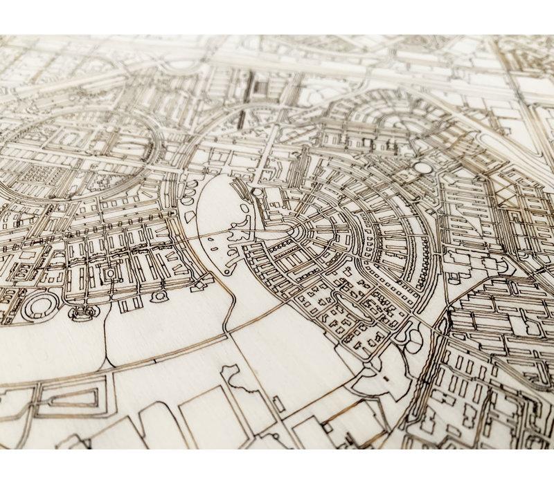 Citymap Amersfoort | houten wanddecoratie