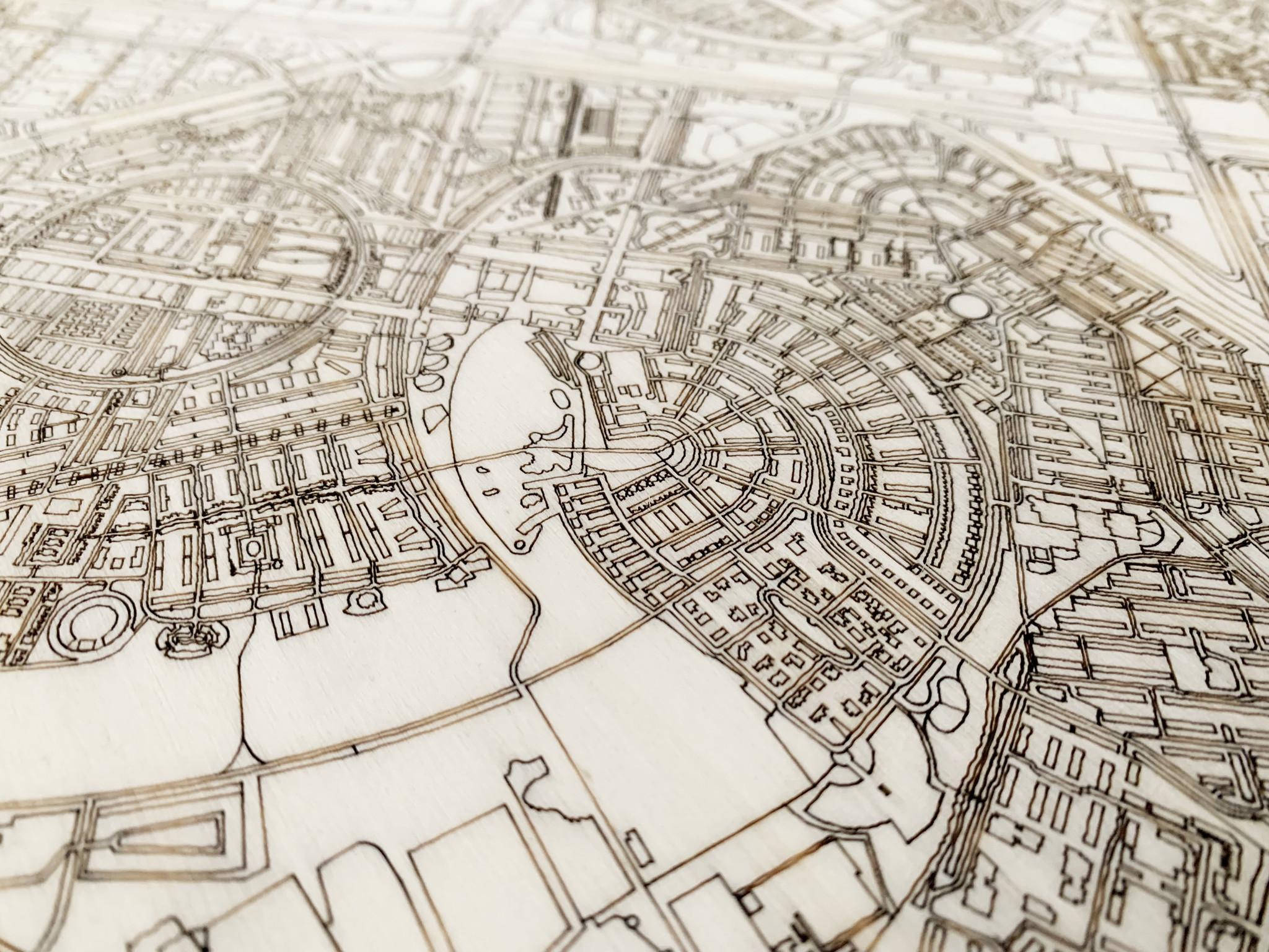 Citymap Amersfoort | houten wanddecoratie-3