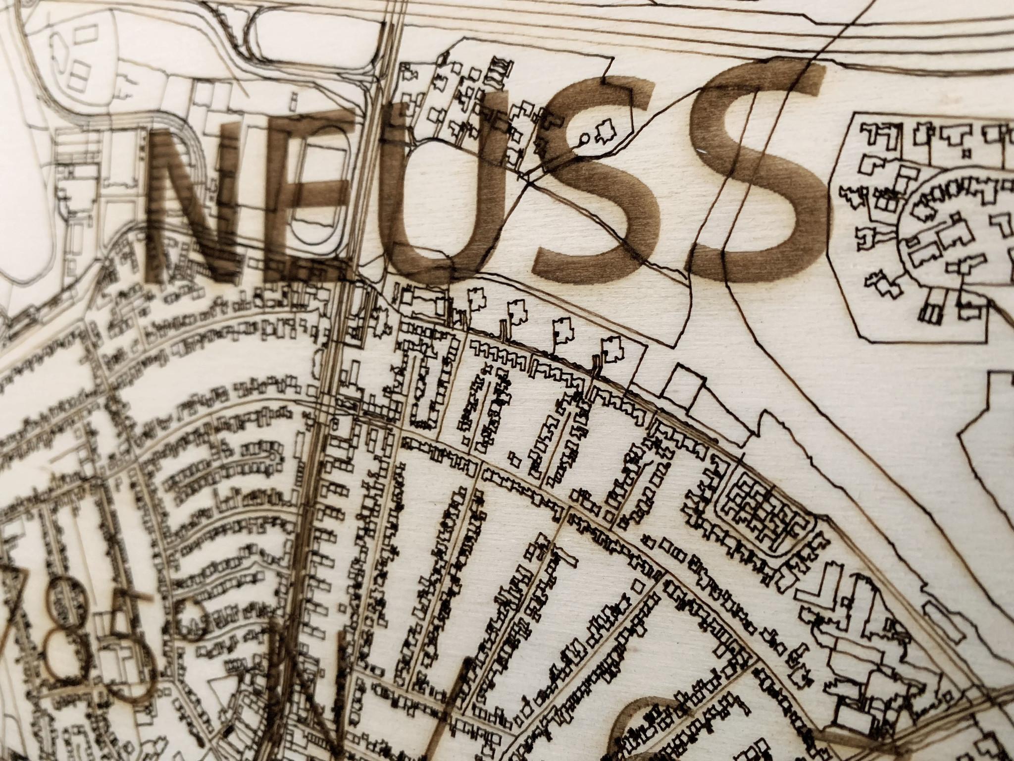 WOODEN WALL DECORATION Neuss CITYMAP-4
