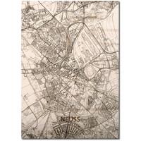 Citymap Neuss | houten wanddecoratie