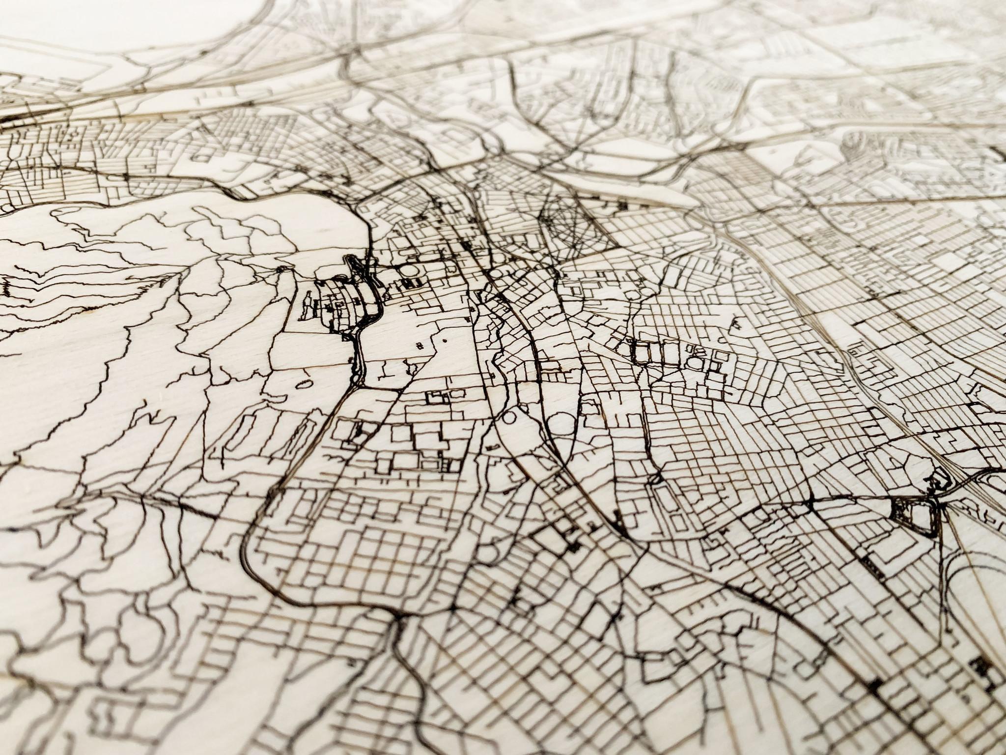 Citymap Kaapstad | houten wanddecoratie-3