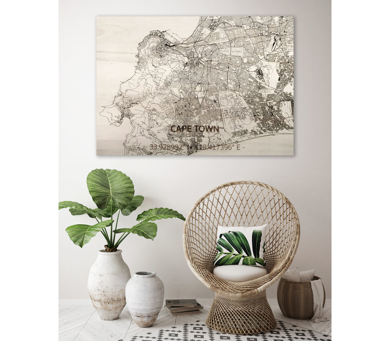 WOODEN WALL DECORATION Cape Town  CITYMAP