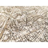 Citymap Leiden | Wooden Walldecoration