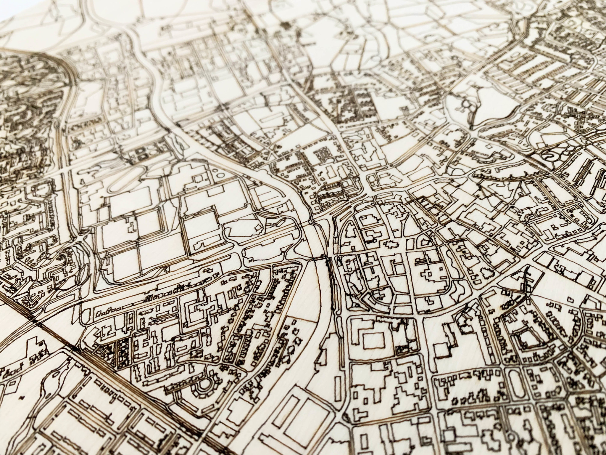 Stadtplan Doetinchem | Wanddekoration Holz-3