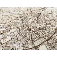 Citymap Dublin | Wooden Wall Decoration