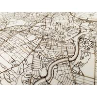 Citymap Belfast | houten wanddecoratie