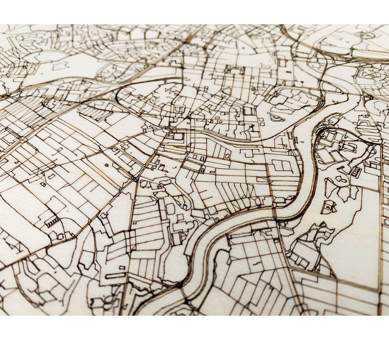 Citymap Belfast   houten wanddecoratie