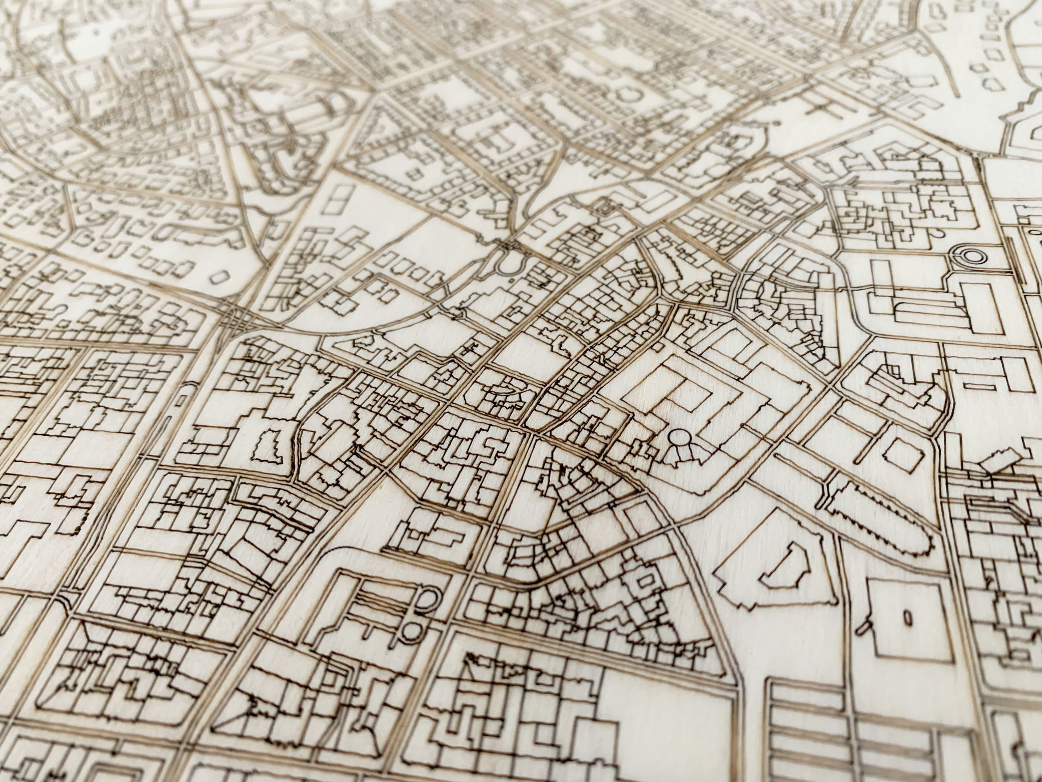 Stadtkarte Wiesbaden | Wanddekoration Holz-4