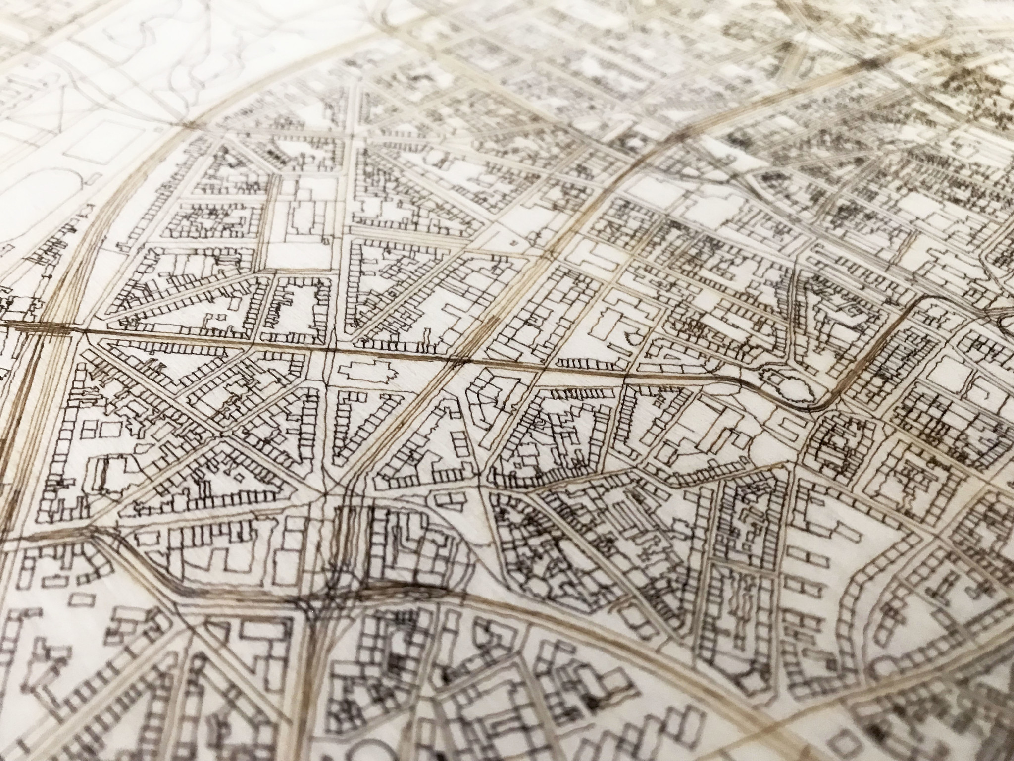 WOODEN WALL DECORATION COLOGNE CITYMAP-3