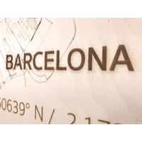 Citymap Barcelona | houten wanddecoratie