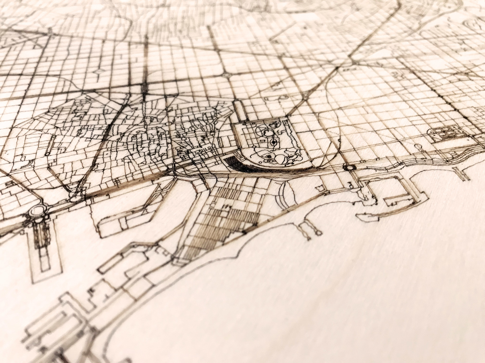 WOODEN WALL DECORATION BARCELONA CITYMAP-3