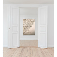 WOODEN WALL DECORATION BARCELONA CITYMAP