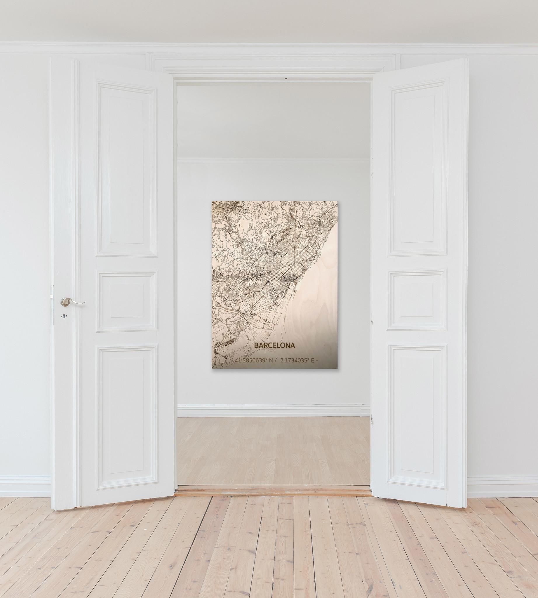 WOODEN WALL DECORATION BARCELONA CITYMAP-2