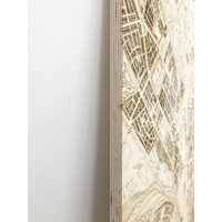 WOODEN WALL DECORATION ROME CITYMAP