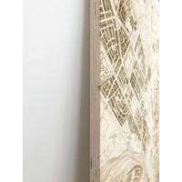 Stadtplan Dubai | Wanddekoration Holz