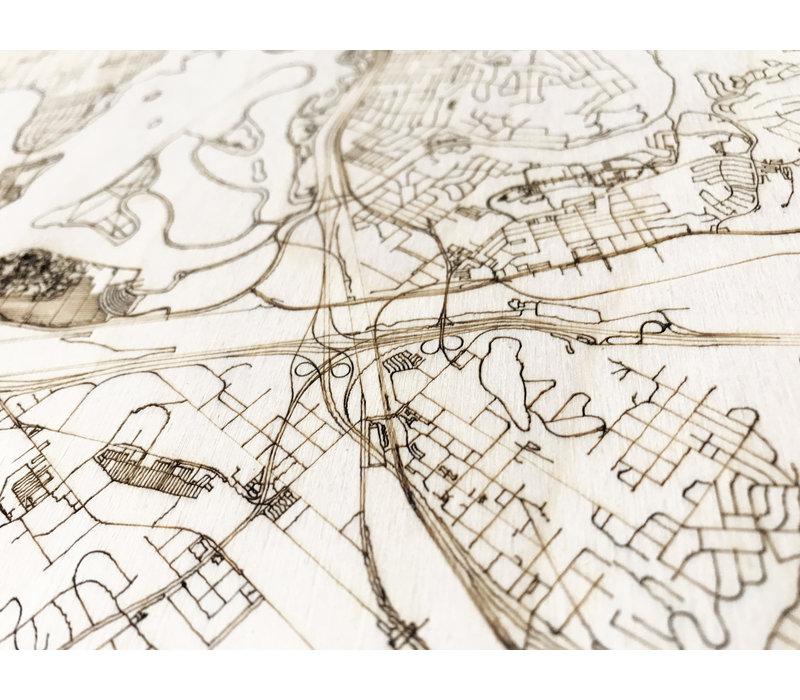 Citymap San Diego | houten wanddecoratie