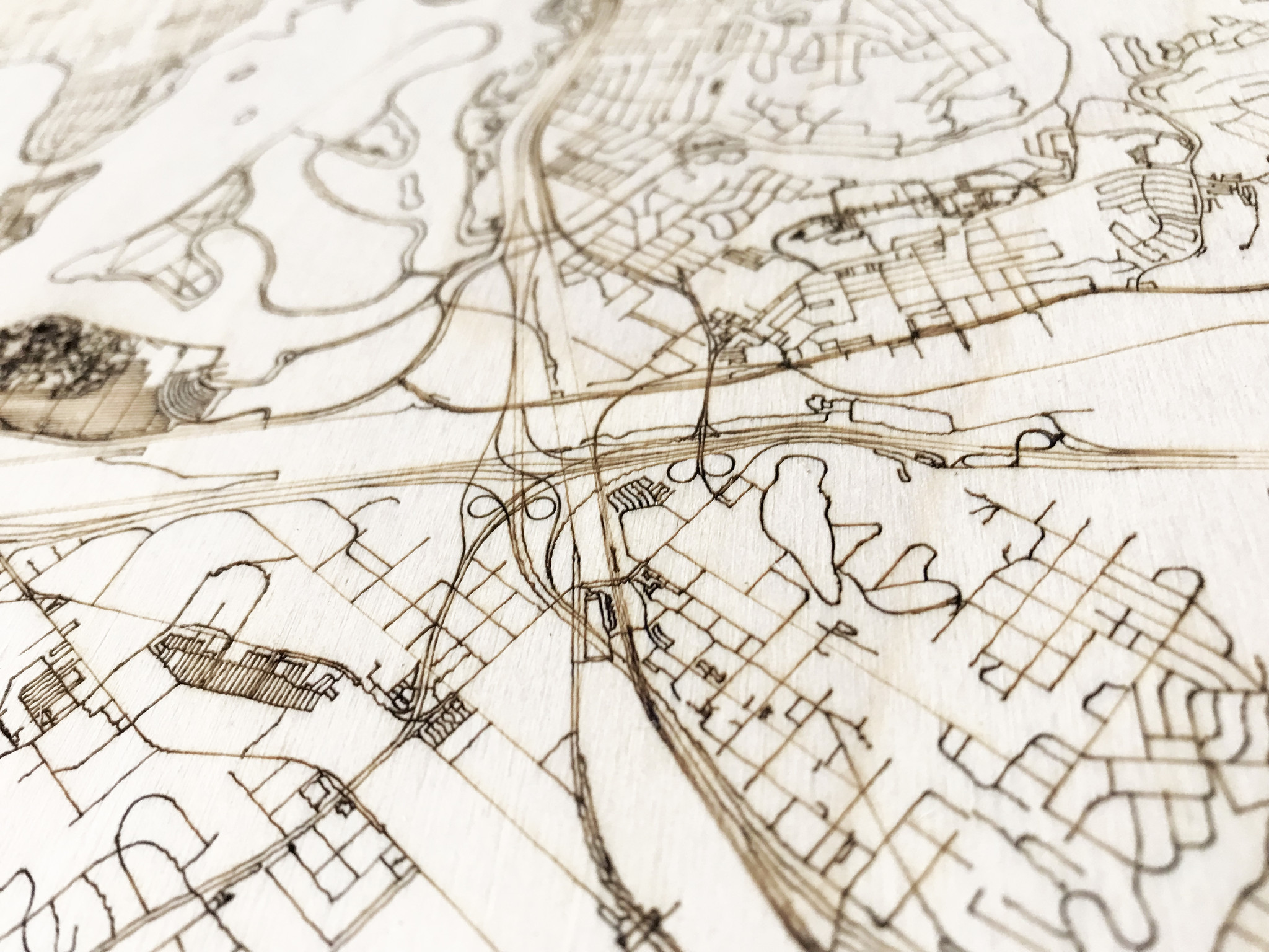 Stadtplan San Diego | Wanddekoration Holz-3