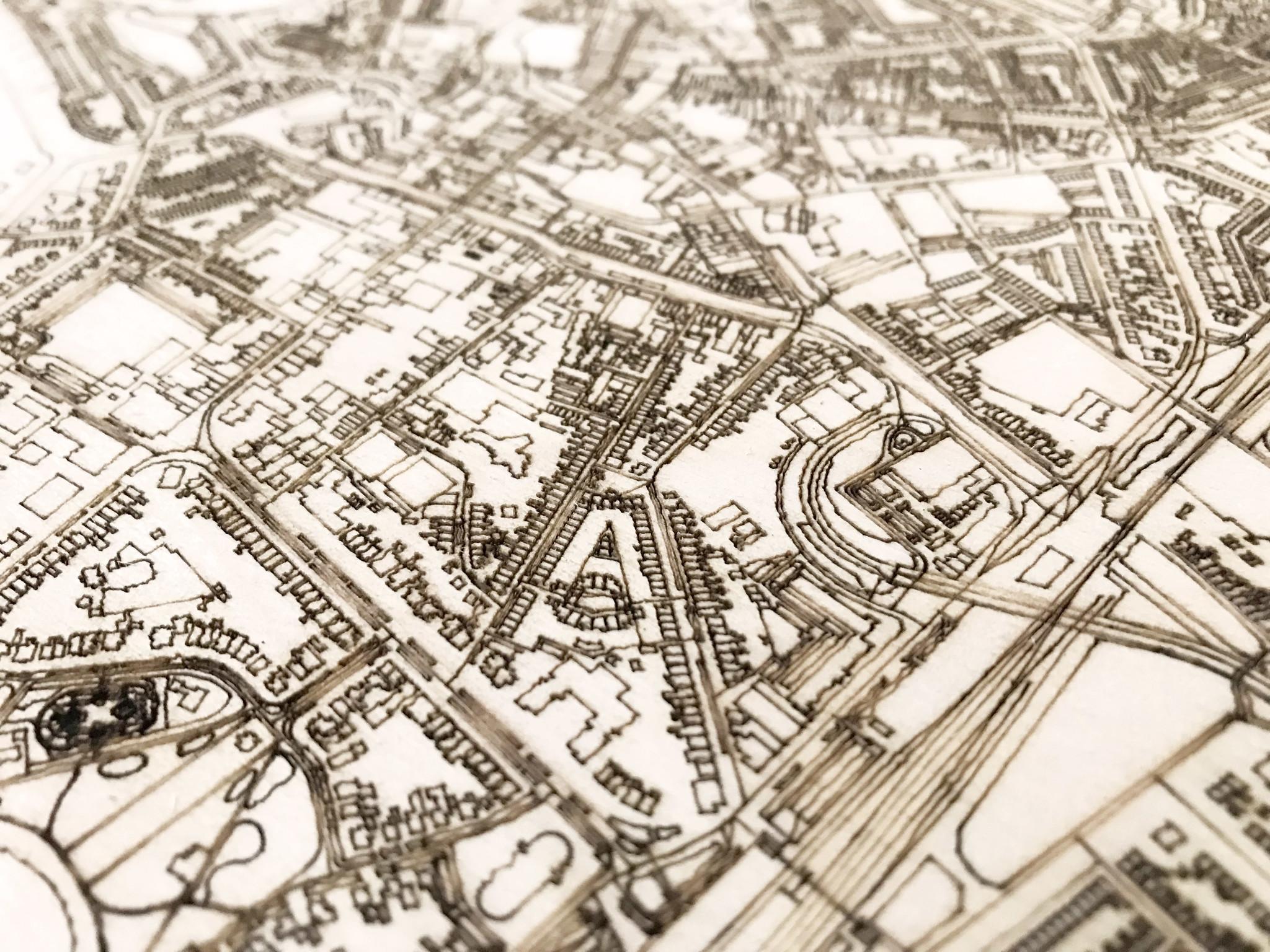 Stadtplan Meppel | Wanddekoration Holz-3