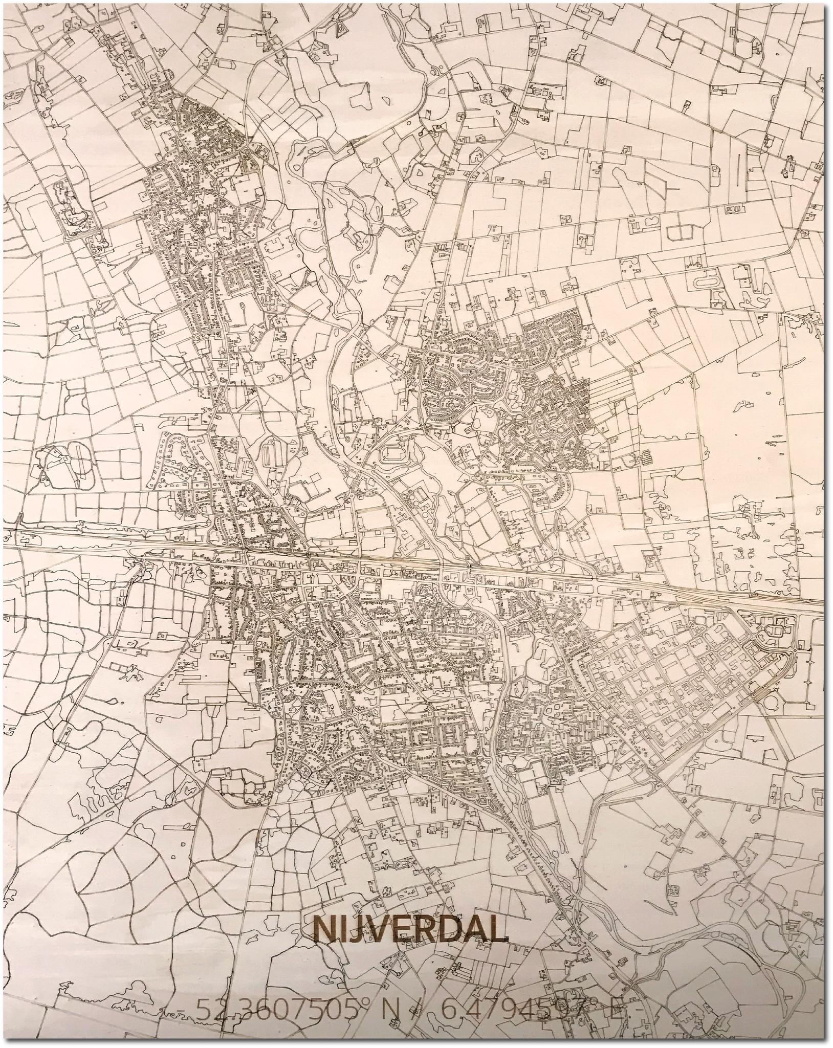 HOUTEN WANDDECORATIE Nijverdal CITYMAP-1