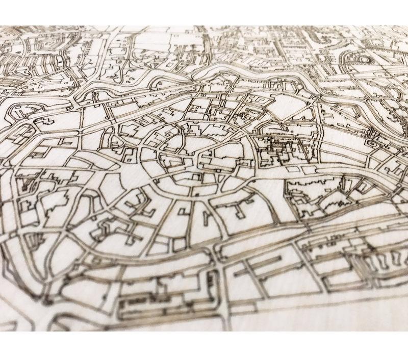 WOODEN WALL DECORATION MIDDELBURG CITYMAP