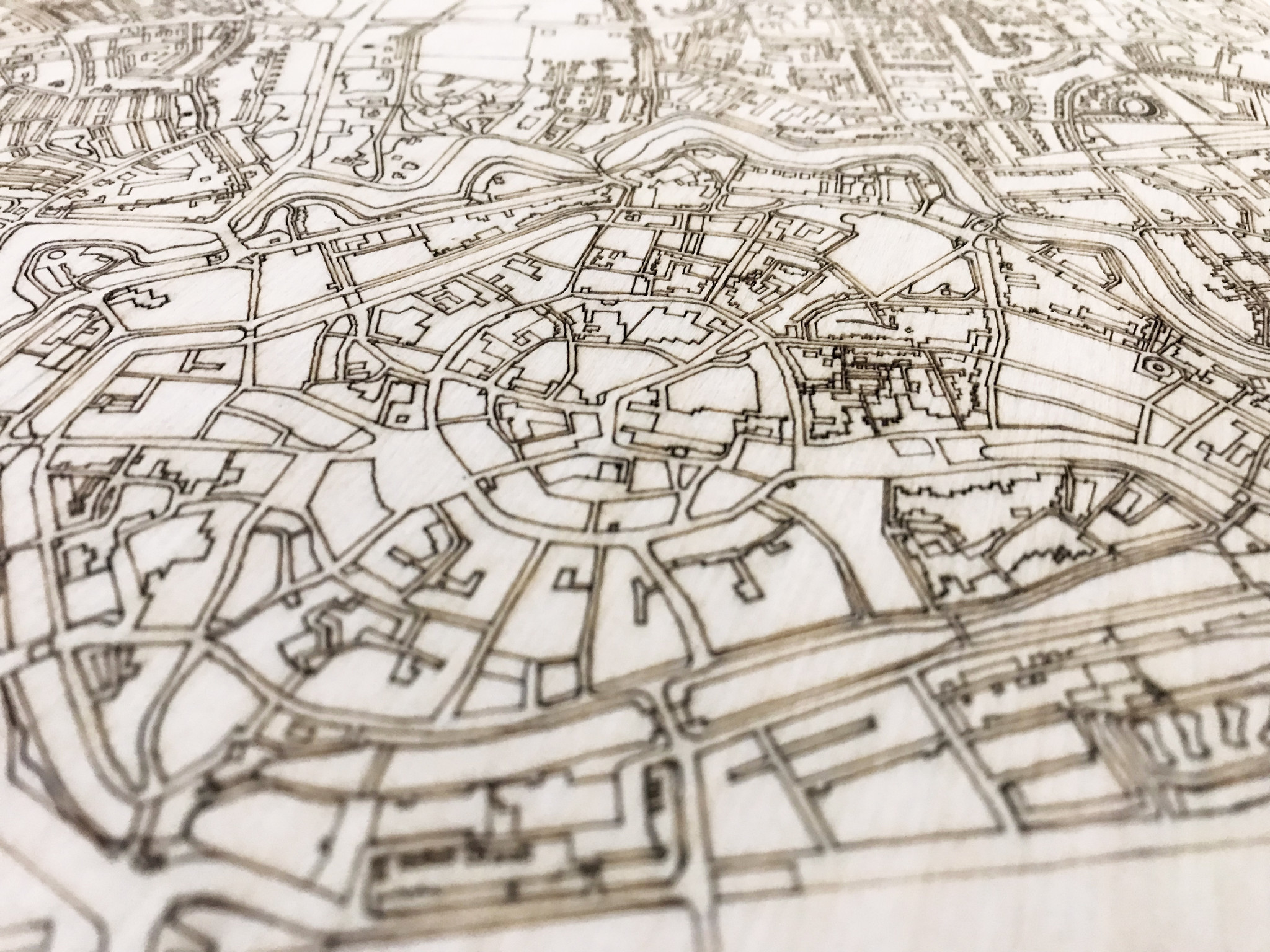 Citymap Middelburg | houten wanddecoratie-3