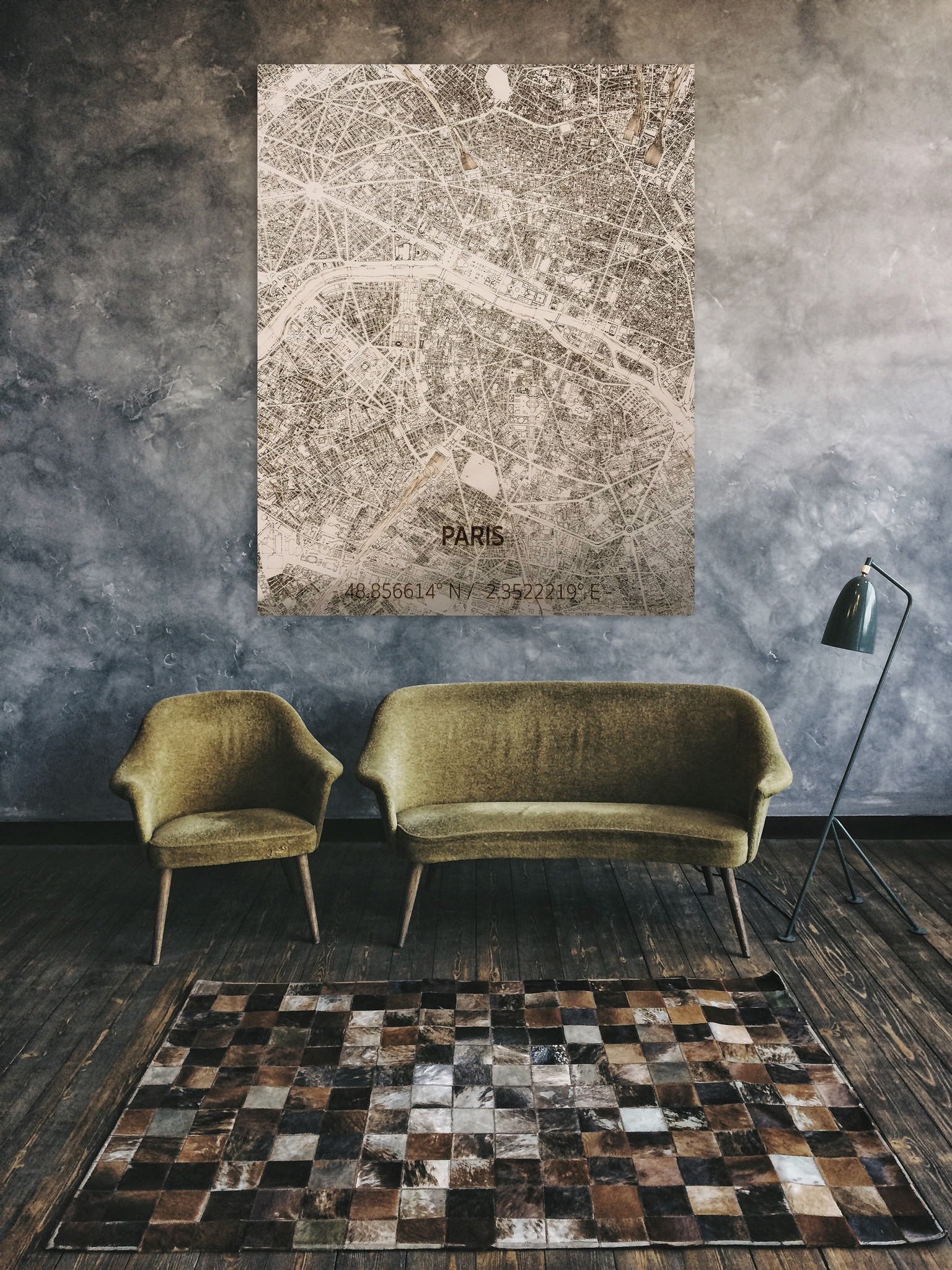 Citymap Paris | Wooden wall decoration-2