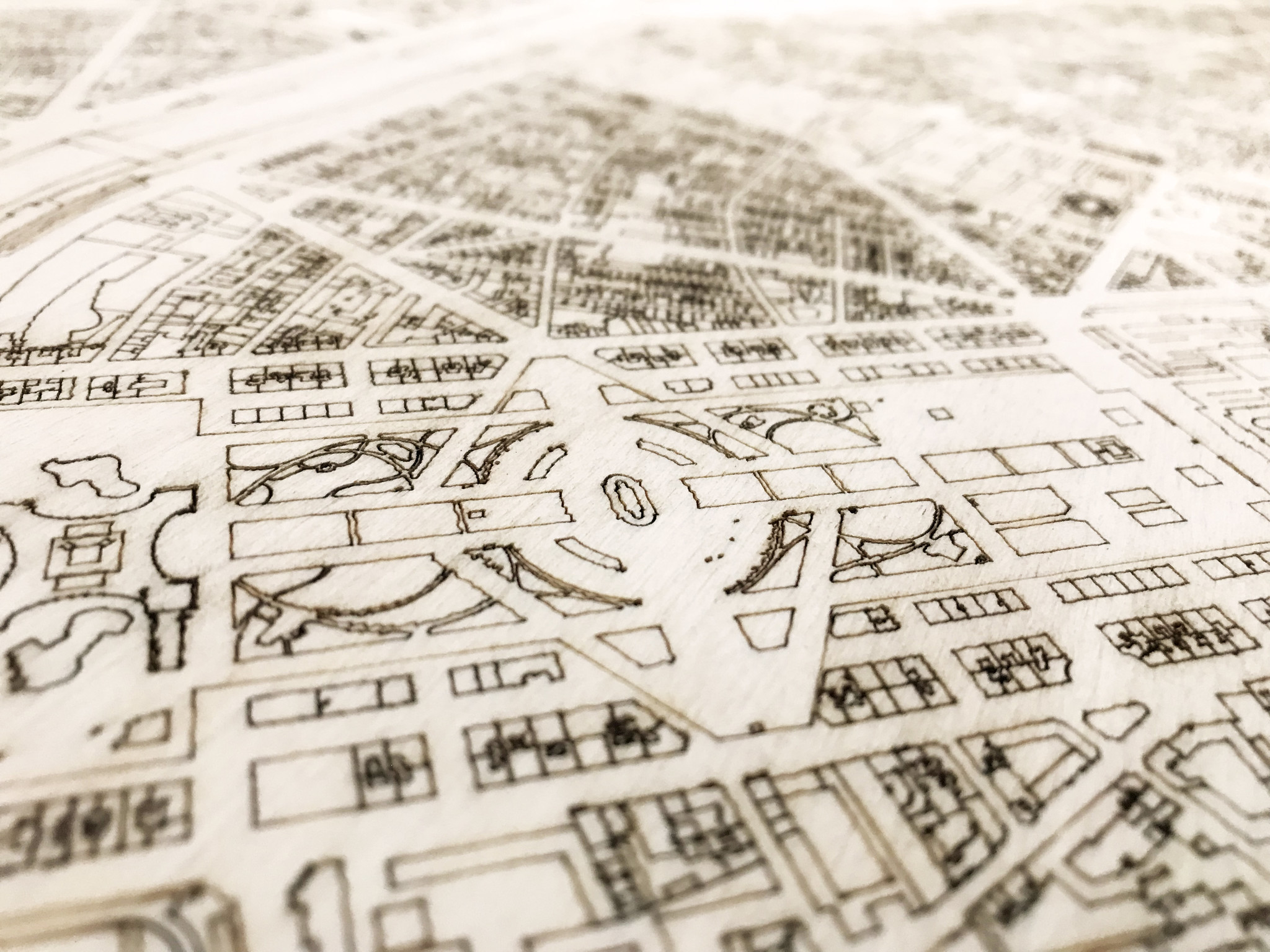 Citymap Paris | Wooden wall decoration-3