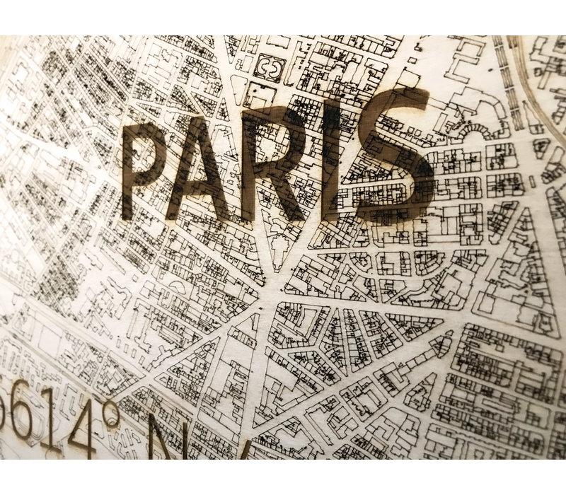 WOODEN WALL DECORATION PARIS CITYMAP