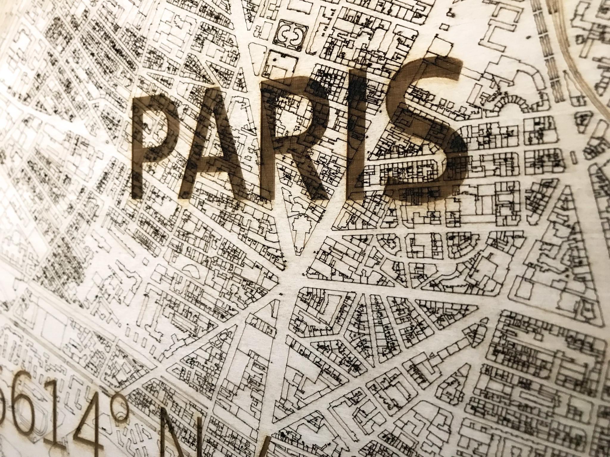 Citymap Paris | Wooden wall decoration-4