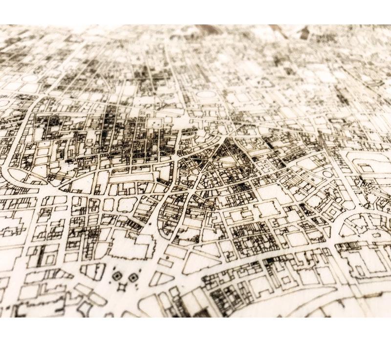 Citymap Londen | houten wanddecoratie