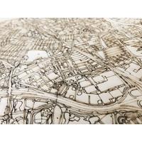Stadtplan Dordrecht | Wanddekoration Holz