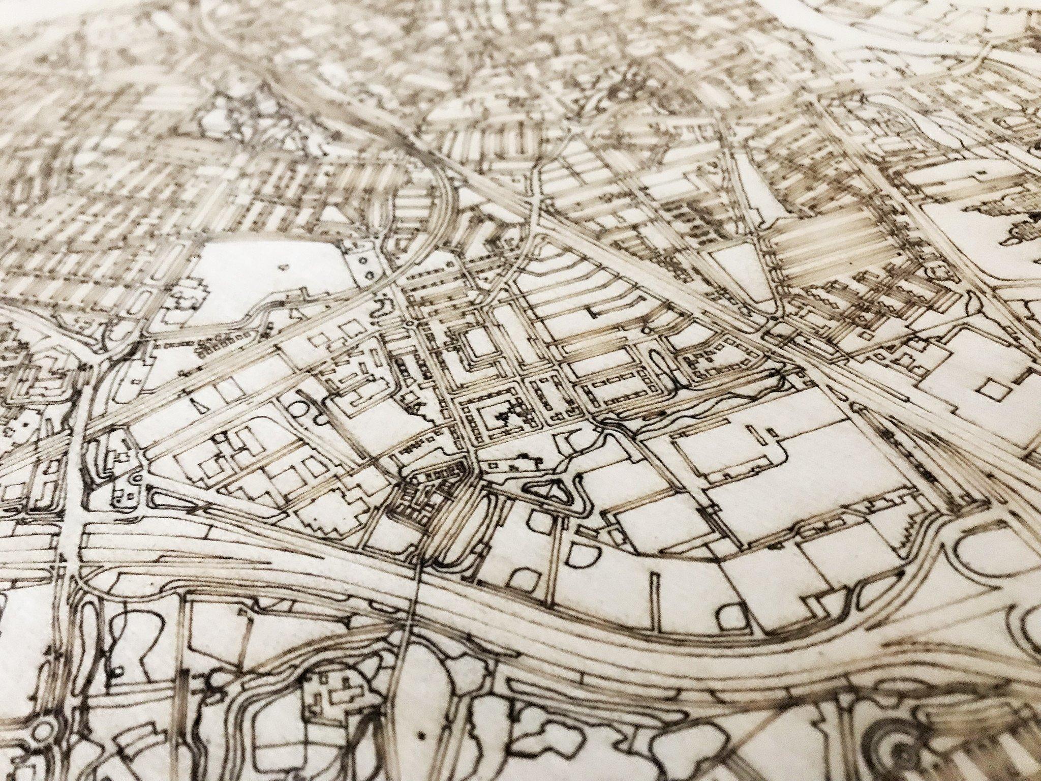 Citymap Dordrecht | houten wanddecoratie-3