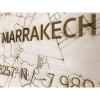 Citymap Marrakesh | houten wanddecoratie