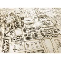 Stadtplan Hillegom | Wanddekoration Holz