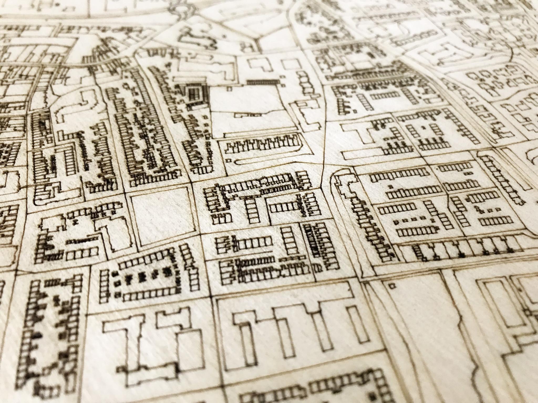 Citymap Hillegom | houten wanddecoratie-4