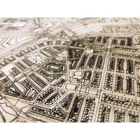 Citymap Rijswijk | houten wanddecoratie
