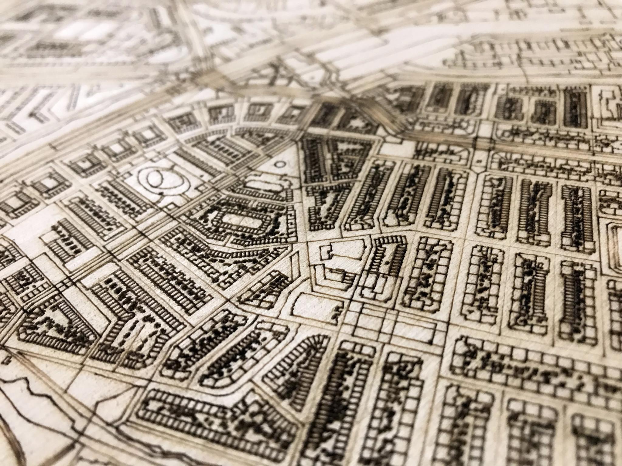 Stadtplan Rijswijk | Wanddekoration Holz-3