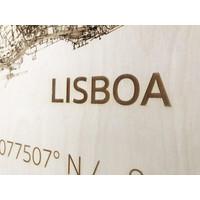 Citymap Lisbon | wooden wall decoration