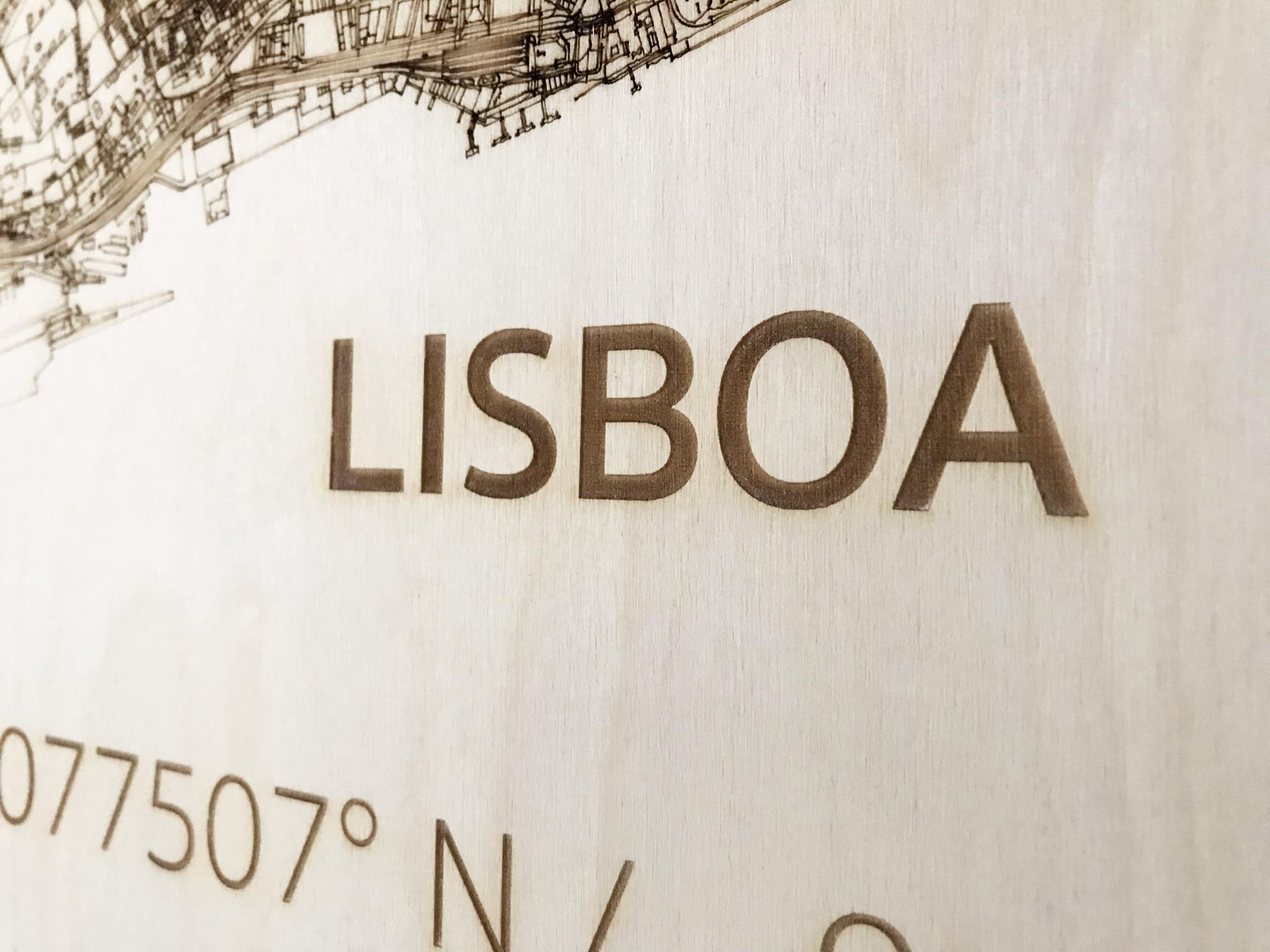 Citymap Lisbon | wooden wall decoration-4