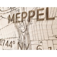 WOODEN WALL DECORATION Meppel CITYMAP