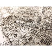 Citymap Gouda | houten wanddecoratie