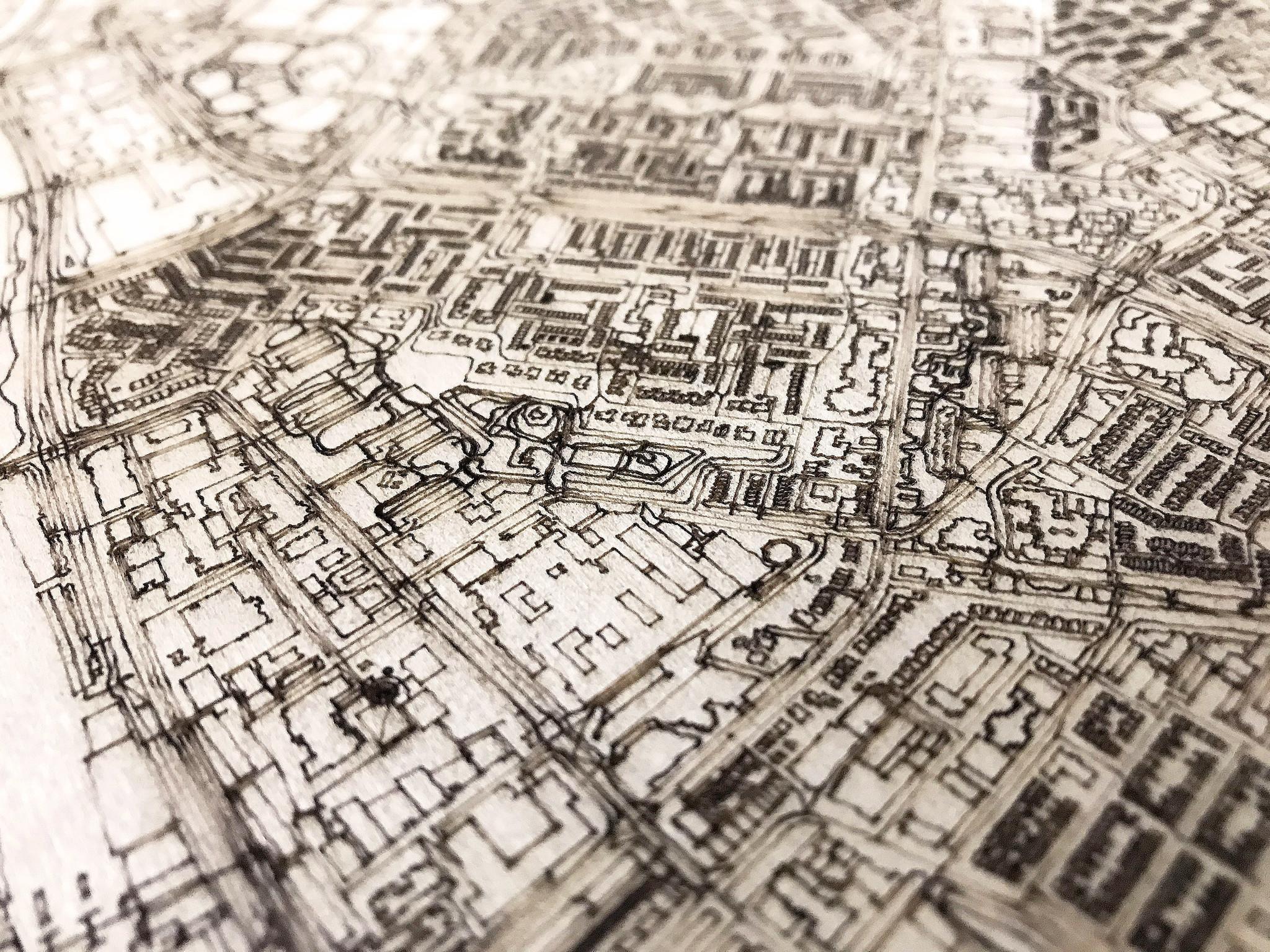 Citymap Gouda | houten wanddecoratie-3