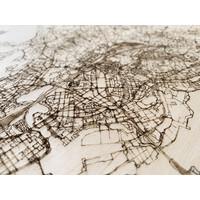 Stadtplan Helsinki | Wanddekoration Holz