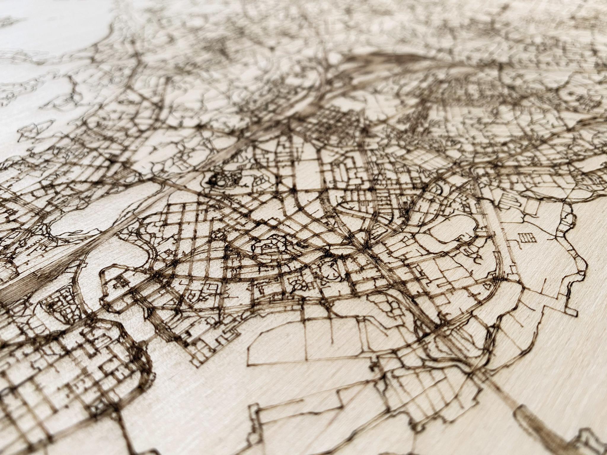 Citymap Helsinki | houten wanddecoratie-3