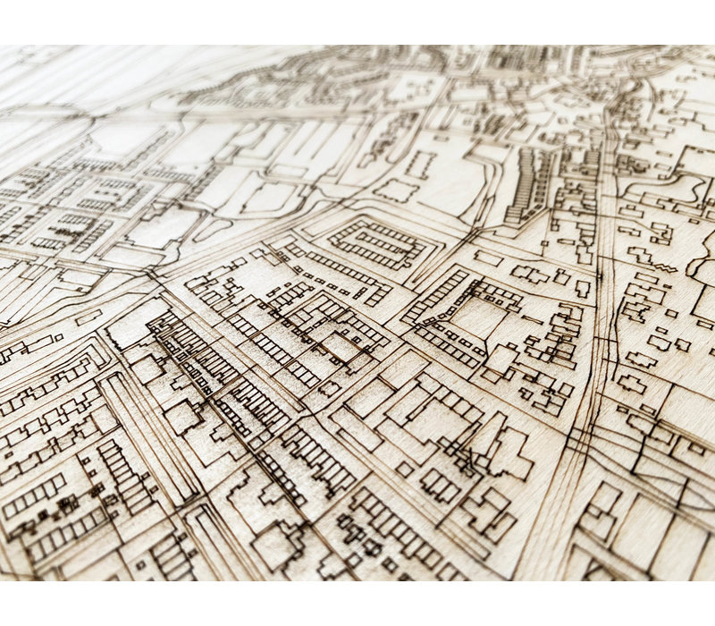 City map Zoeterwoude-dorp | wooden wall decoration