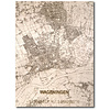 WOODEN WALL DECORATION Wageningen CITYMAP